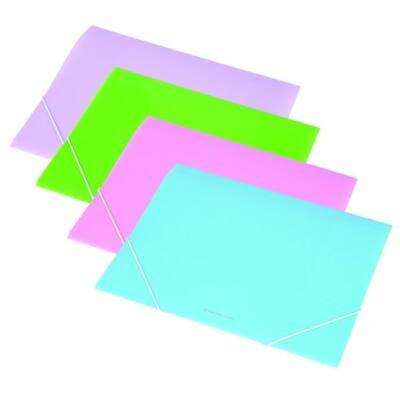 Gumis mappa, 15 mm, PP, A4, PANTA PLAST, pasztell kék