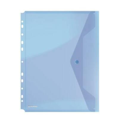 Irattartó tasak, A4, PP, patentos, lefűzhető, DONAU, kék