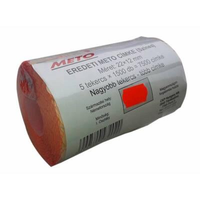 Árazógépszalag, 22x12 mm, METO, piros